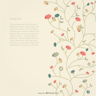Vector Floral Background Retro Style