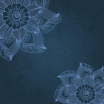 Vector floral design elements for page decoration