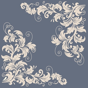 Vector floral design elements for page decoration