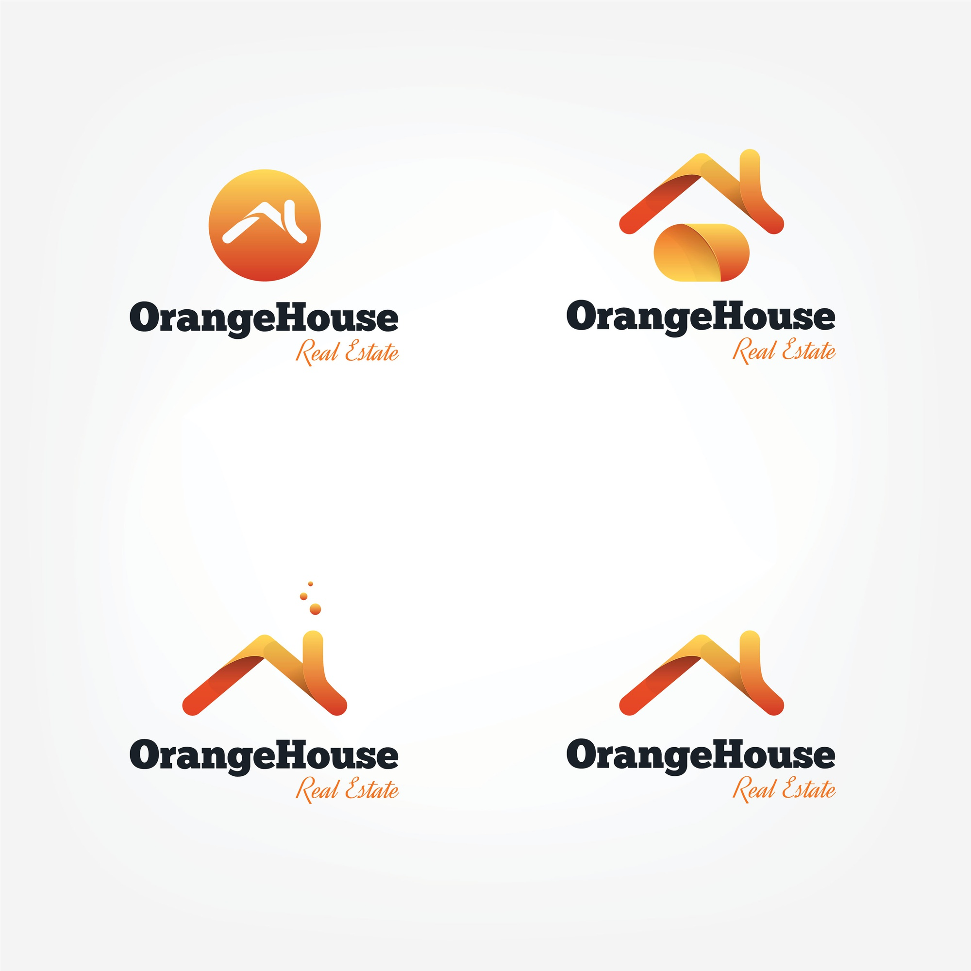 Vector house roofs logo