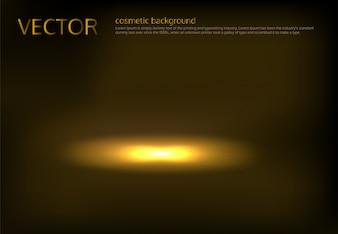 Vector illustration of a golden spot lit
