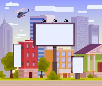 Vector illustration of an advertising billboard