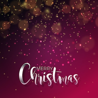 Vector illustration on a christmas theme with glowing lights and typography. Creative Holiday design for greeting card.
