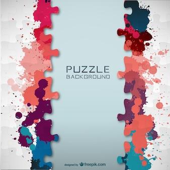 Vector jigsaw color splatter template