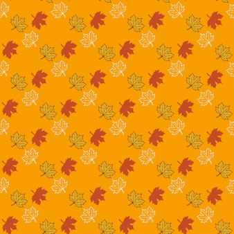 Vector pattern with autumn leafes, floral background, autmn fall.