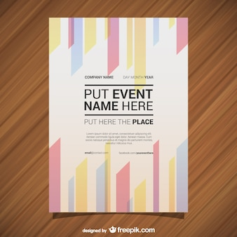 Vector poster template geometric abstract lines