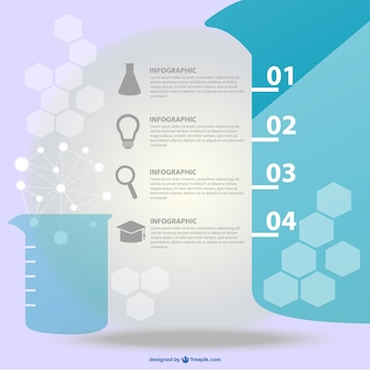Vector science infographic design