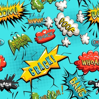 Vector seamless pattern of comic speech bubble