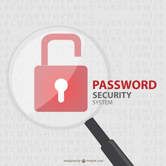 Vector security lock free illustration