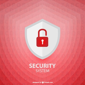 Vector security shield template