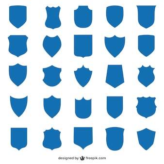 Vector shield set of graphics