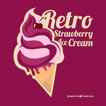 Vector strawberry ice cream
