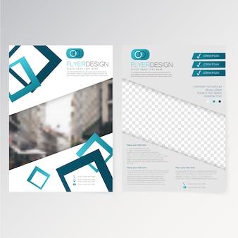 Vector template flyer design
