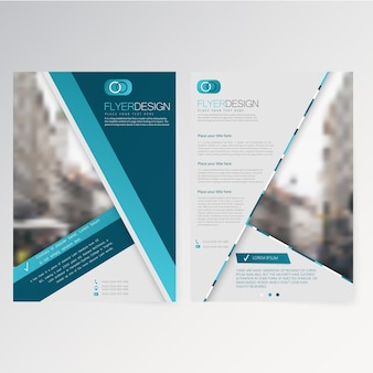 Vector template flyer design