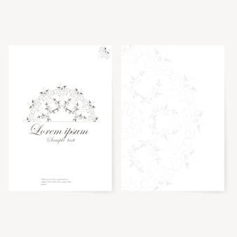 フォルダ、名刺、招待状のベクトルテンプレート