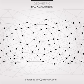 Vector triangles network background