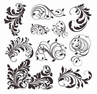 vector vintage patterns for design
