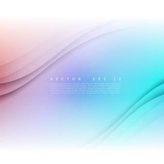 波状のバナーのベクトル白。