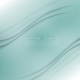 Vector white of wavy banner.
