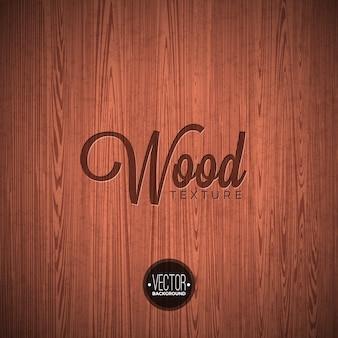 Vector wood texture background design. Natural dark vintage wooden illustration.