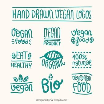 Vegan food logos