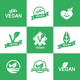 Vegan logos template