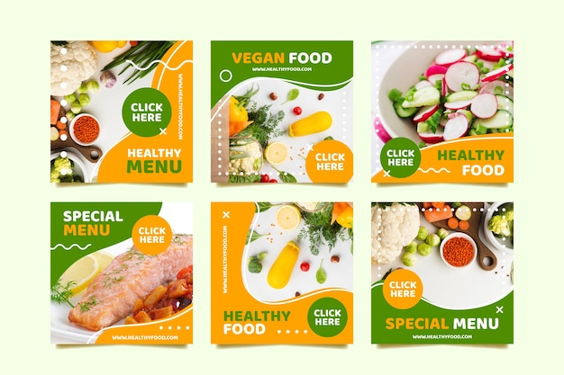 Vegan menu social media post