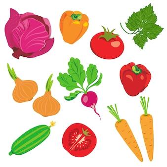Vegetable element set