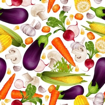 Vegetables pattern design