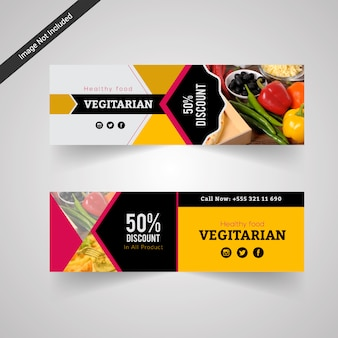 Vegetarian food discount banner