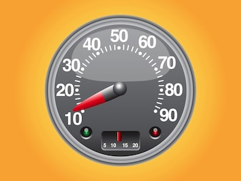 Vehicle speedometer vector design element