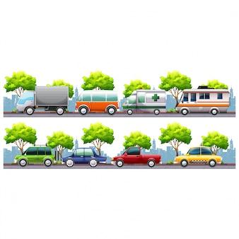 Транспортные средства, двигающиеся дизайн