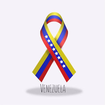 Venezuela flag ribbon design