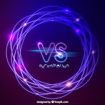 Versus background with abstract style
