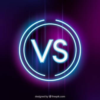 Versus background with neon style