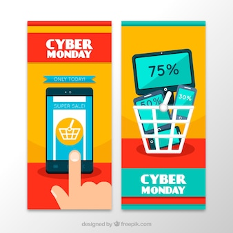 Vertical cyber monday banners