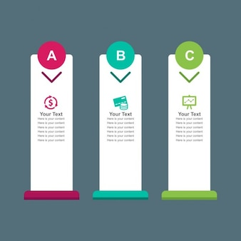 Vertical infogrphic banners