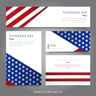 Veterans day Banners Collection