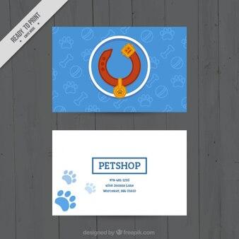 Veterinary card template