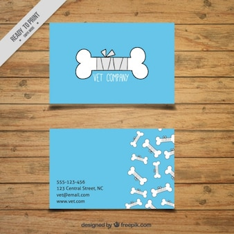 Veterinary card with drawings of bones