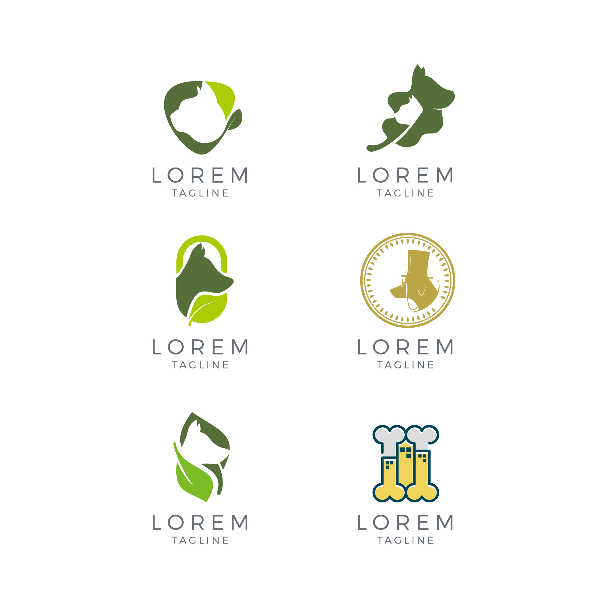 Veterinary logo collection