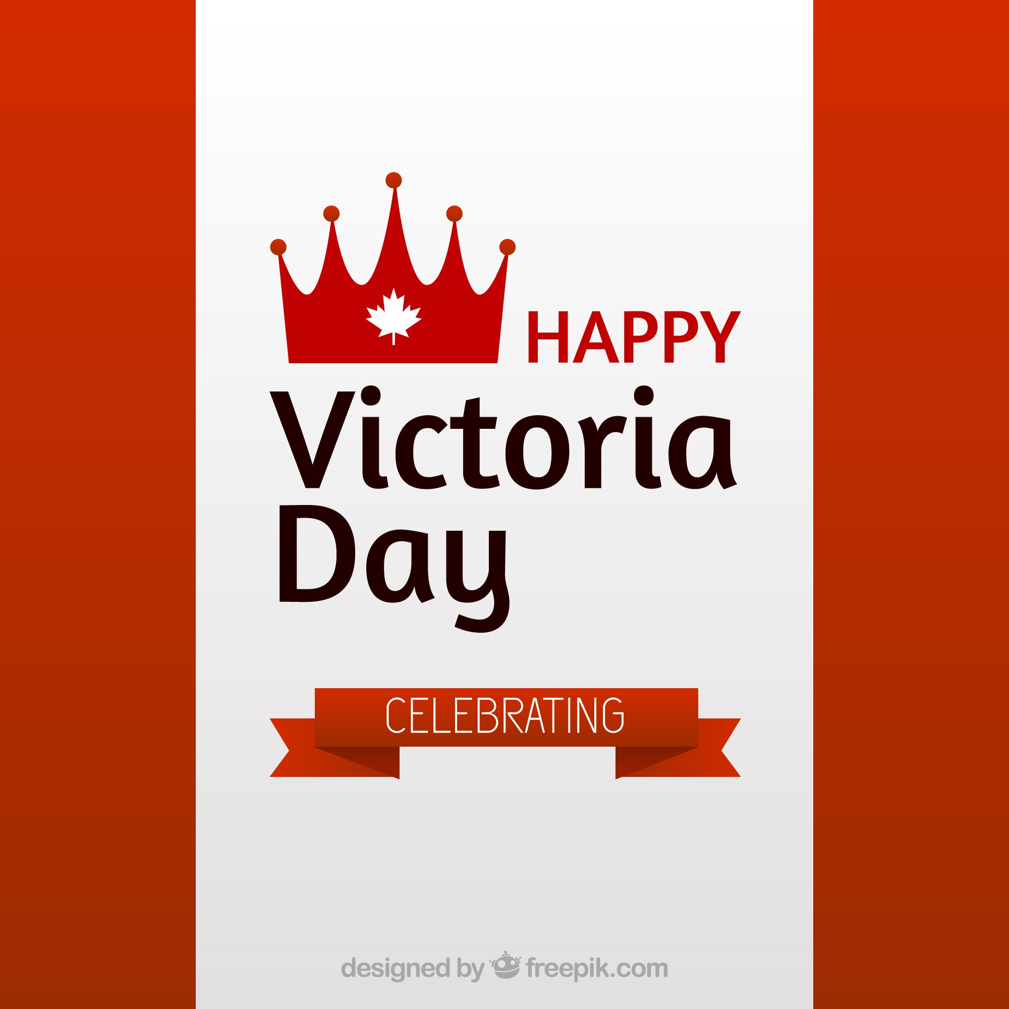 Victoria day background with ribbon