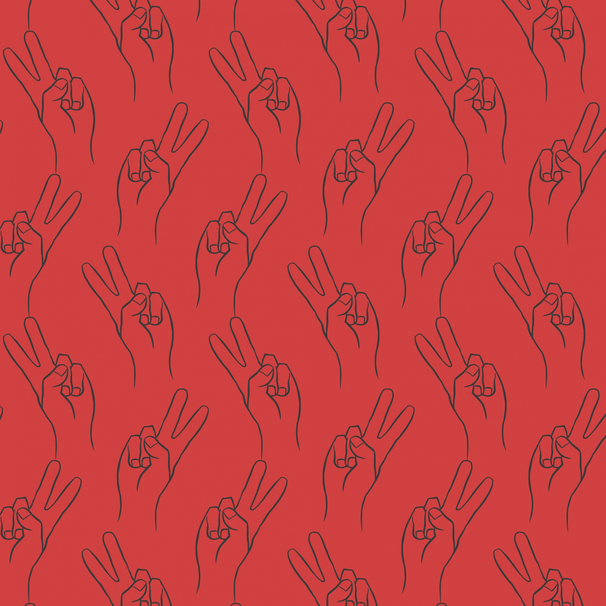 Victory-sign-hand-drawing-vector