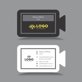 Video Camera Shape Business Card