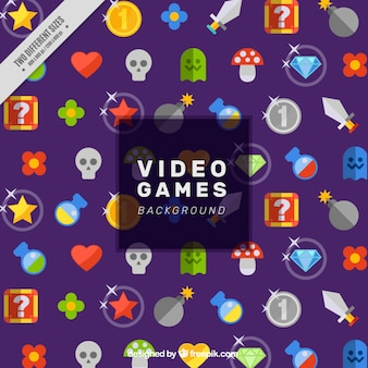 Video game background with colorful elements