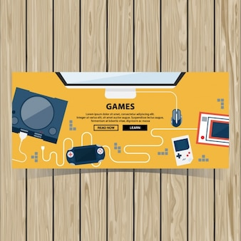Video game brochure template