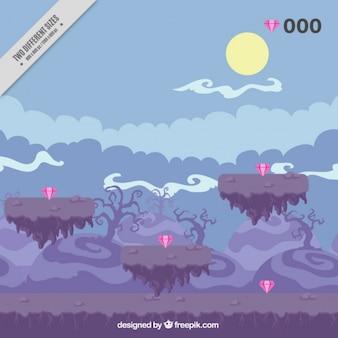 Video game scene background