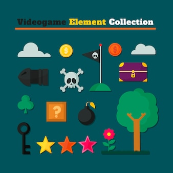 video games collection of different elements