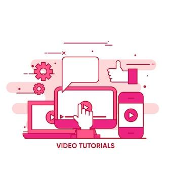 Video tutorials background design