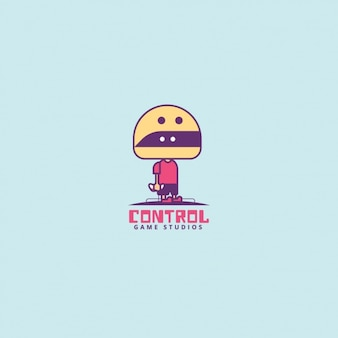 Videogame character, logo